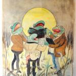 Kormedlem Malermester Johansen var fortræffelig karikaturtegner